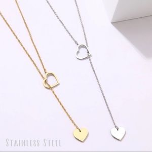 Jewelry - 3/$25 ⚡️heart lariat necklace